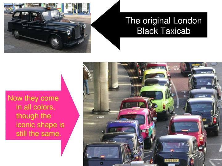 The original London Black Taxicab