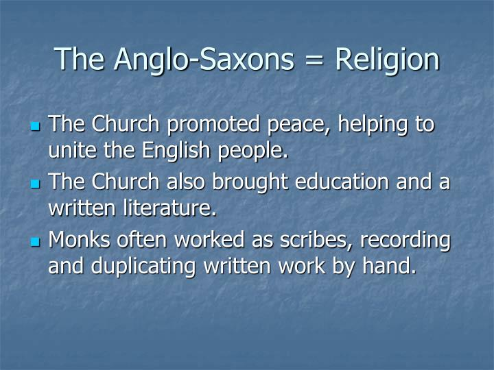 literature from the anglo saxon period through From the anglo-saxon period dates what is known as old english literature or through no fault of his own and christian literature written in the anglo-saxon.