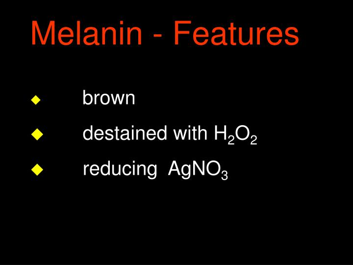 Melanin - Features