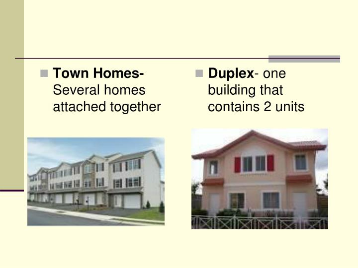 Town Homes-
