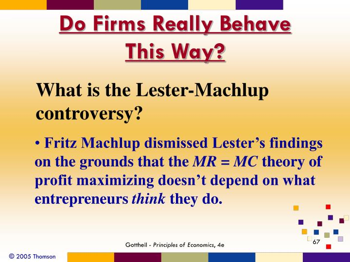 Do Firms Really Behave