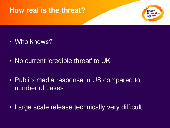 How real is the threat?