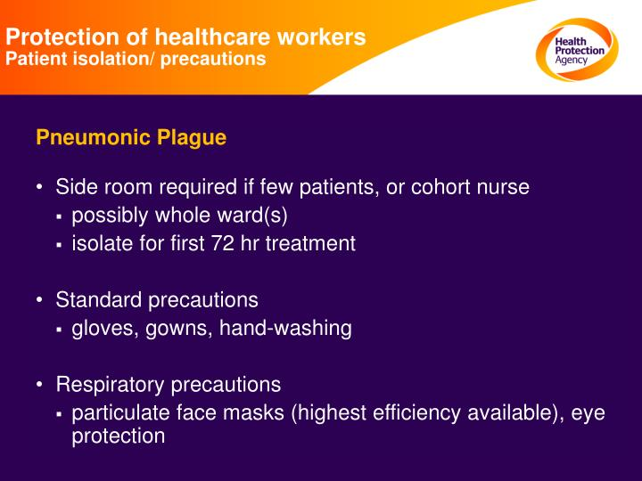 Protection of healthcare workers