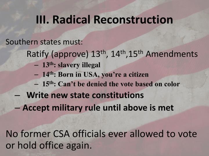 III. Radical