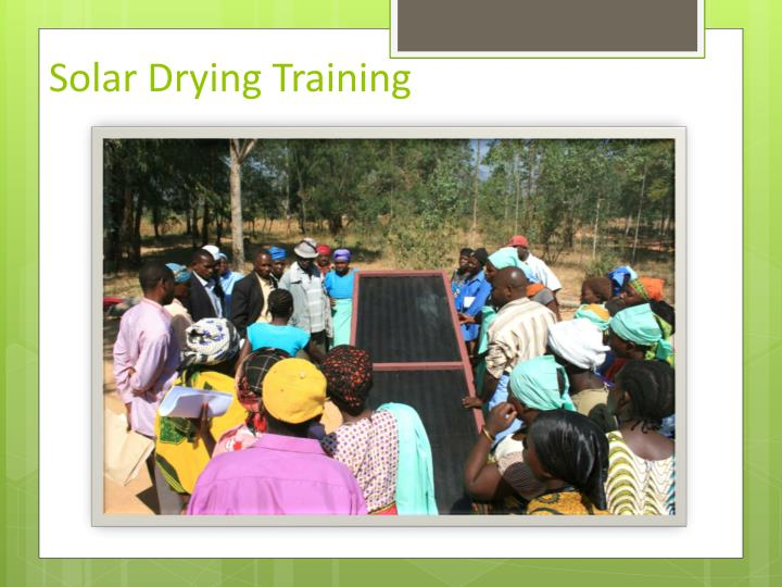 Solar Drying Training