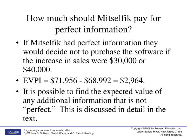 How much should Mitselfik pay for perfect information?