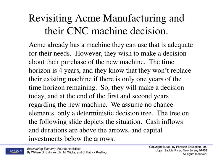 Revisiting Acme Manufacturing and their CNC machine decision.