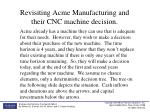 revisiting acme manufacturing and their cnc machine decision