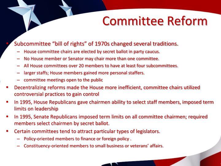 Committee Reform