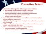 committee reform