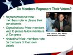 do members represent their voters