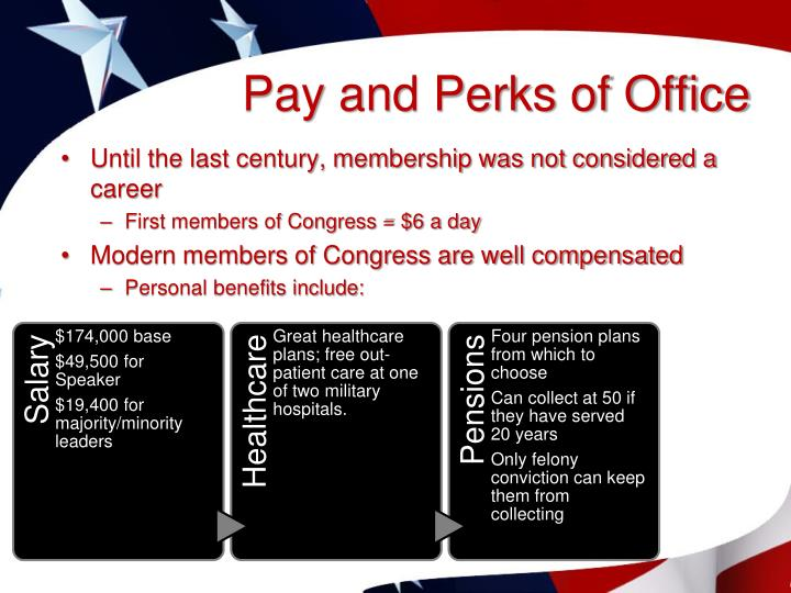 Pay and Perks of Office