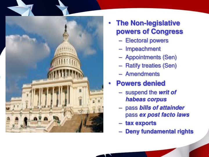The Non-legislative powers of Congress