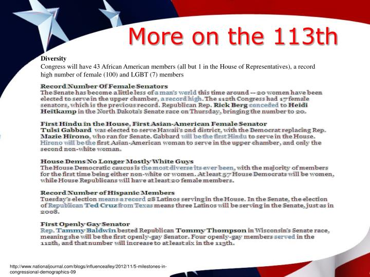 More on the 113th