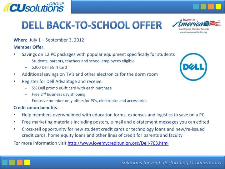 Dell Back-to-School Offer
