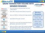 grow transaction volume with member rewards