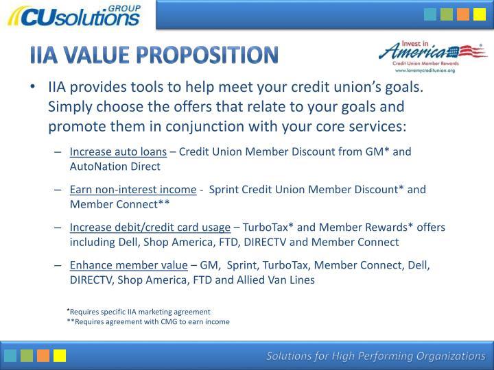 IIA Value Proposition