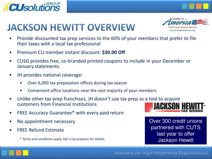 Jackson hewitt overview