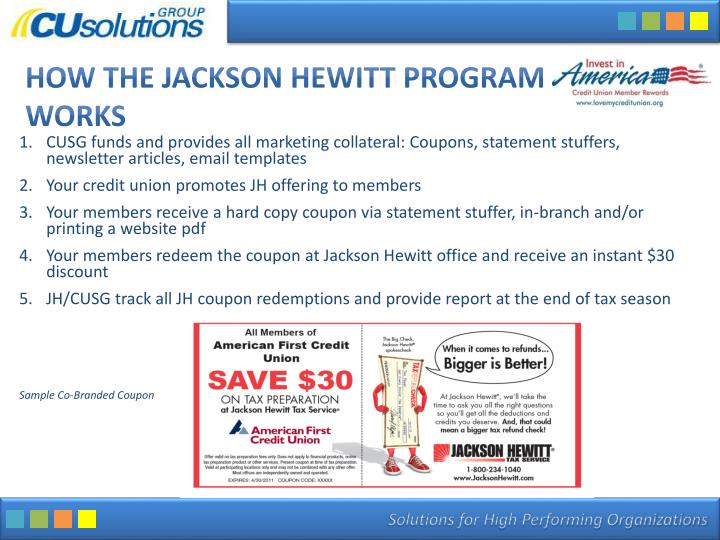 How the jackson hewitt program works
