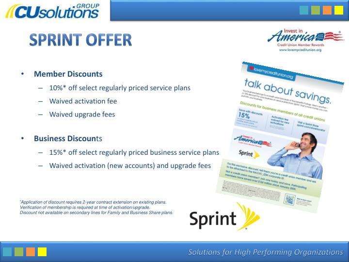 Sprint Offer