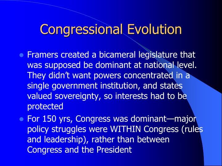 Congressional Evolution
