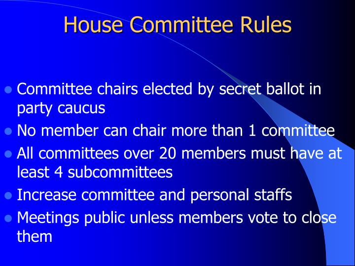 House Committee Rules