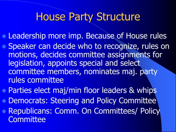 House Party Structure