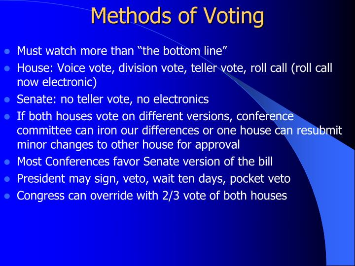 Methods of Voting