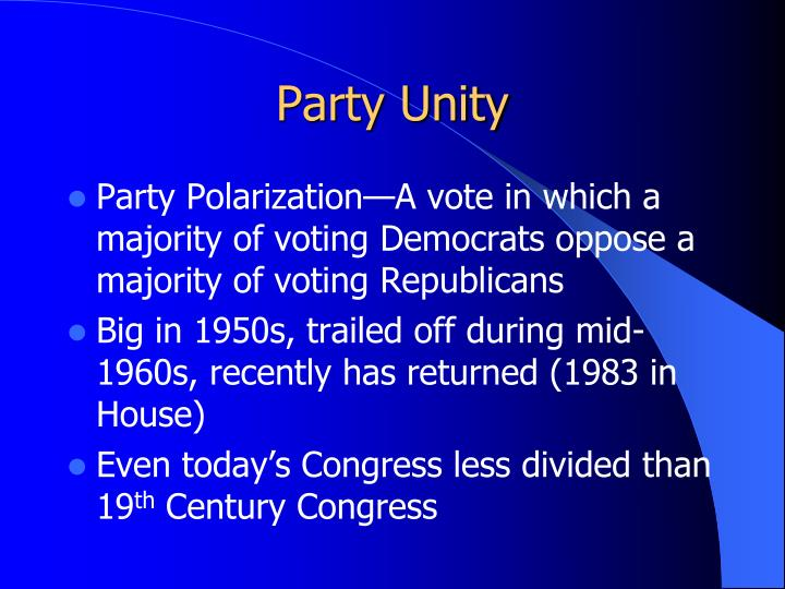 Party Unity