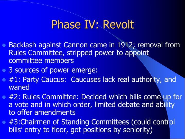 Phase IV: Revolt