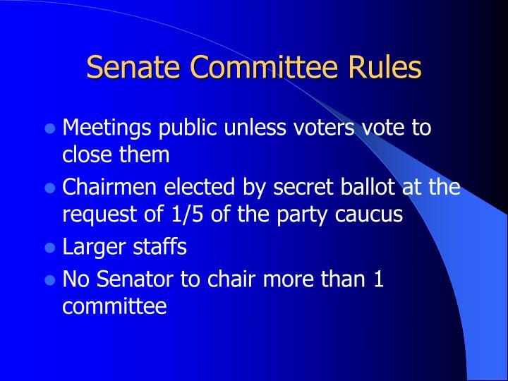 Senate Committee Rules