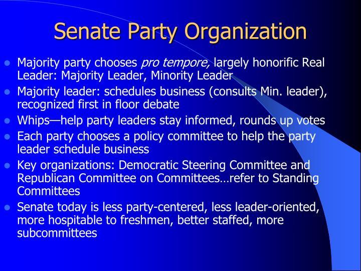 Senate Party Organization