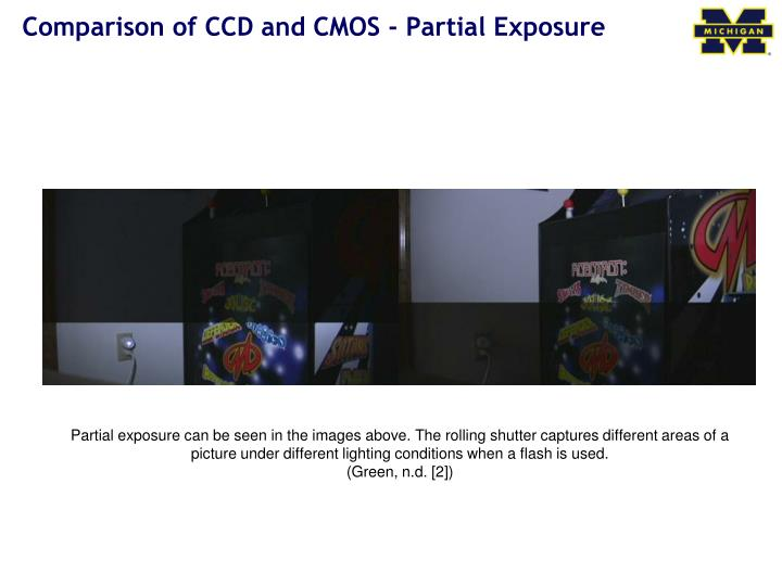 Comparison of CCD and CMOS - Partial Exposure