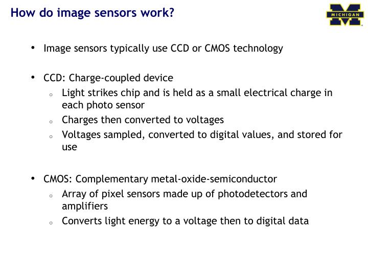 How do image sensors work