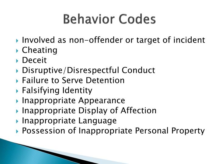 Behavior Codes