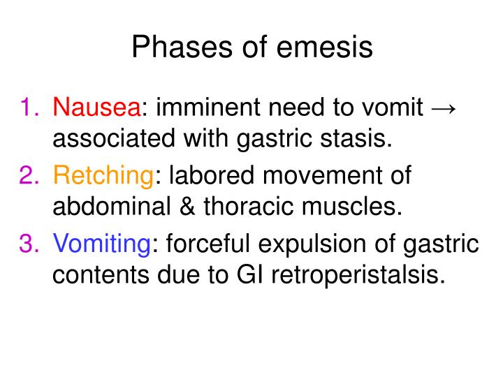 Phases of emesis