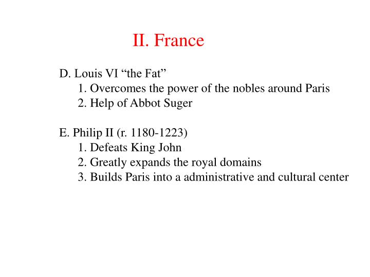 II. France