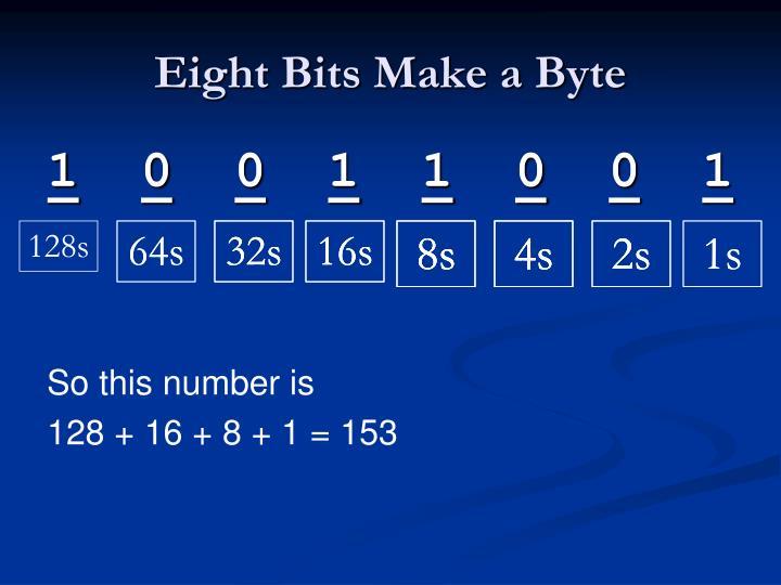 Eight Bits Make a Byte