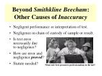beyond smithkline beecham other causes of inaccuracy