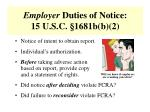 employer duties of notice 15 u s c 1681b b 2