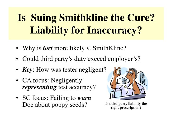 Is  Suing Smithkline the Cure?