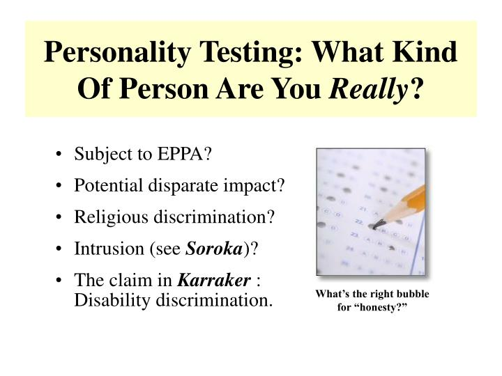 Personality Testing: What Kind Of Person Are You