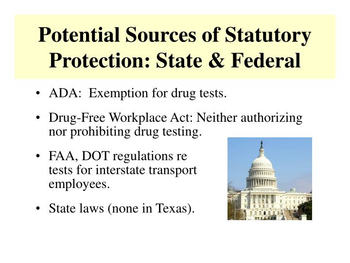 Potential Sources of Statutory