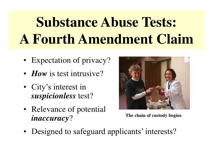 Substance Abuse Tests: