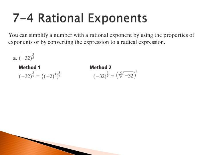 7-4 Rational Exponents