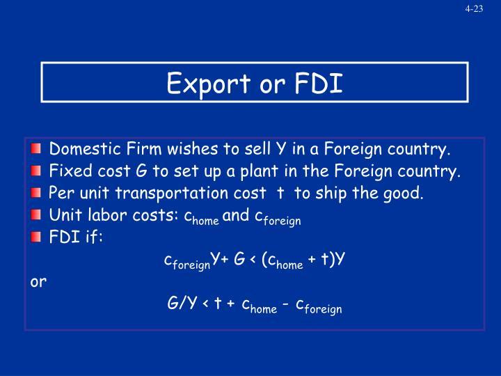 Export or FDI