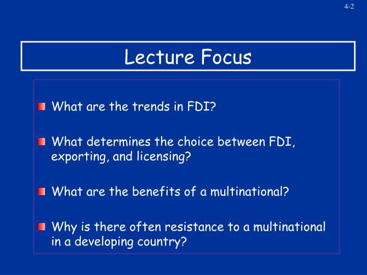 Lecture Focus