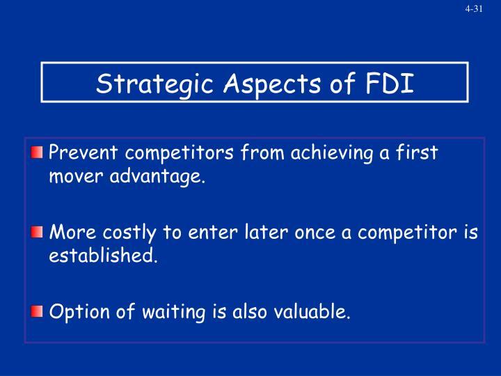 Strategic Aspects of FDI