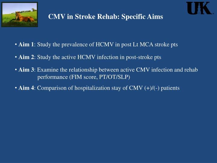 CMV in Stroke Rehab: