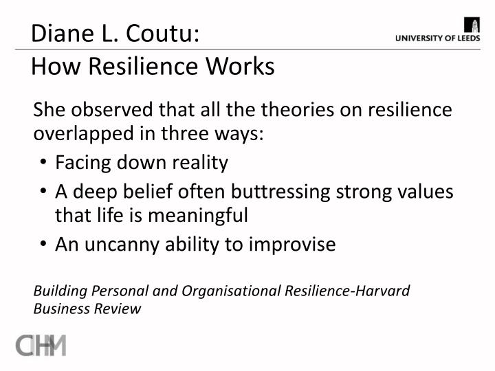 Diane l coutu how resilience works